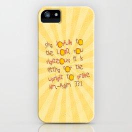Sing Joyfully! iPhone Case