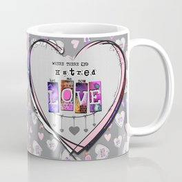 SOW LOVE - Inspirational St. Francis Prayer Abstract Heart Art Coffee Mug