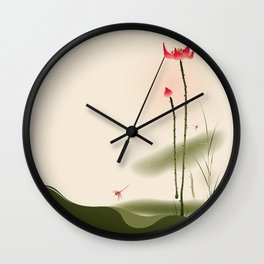 Oriental Lotus 002 Wall Clock