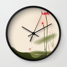 Oriental Lotus 002 Wall Clock