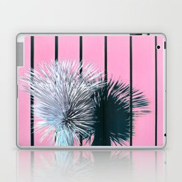 Yucca Plant in Front of Striped Pink Wall Laptop & iPad Skin