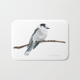 Gray Jay by Teresa Thompson Bath Mat