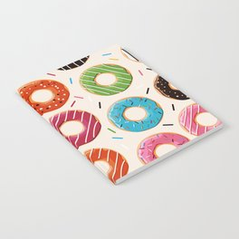 Colorful Donut Design Notebook