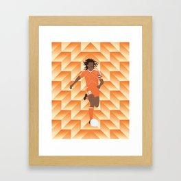 Ruud Gullit Holland '88 Jersey Framed Art Print