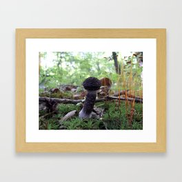 Black Shroom Framed Art Print