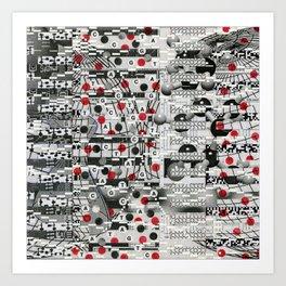 The Unreasonable Man (P/D3 Glitch Collage Studies) Art Print