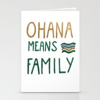 ohana Stationery Cards featuring Ohana means family by Astrid Froyen