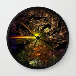 Machu Picchu 3D Fractal Wall Clock