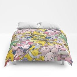 Psychic Type Pokémon Collage Comforters