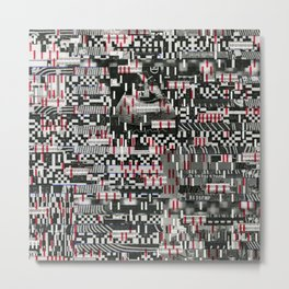 Comfortable Ambiguity (P/D3 Glitch Collage Studies) Metal Print