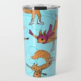 Figure Skating Squirrels Travel Mug