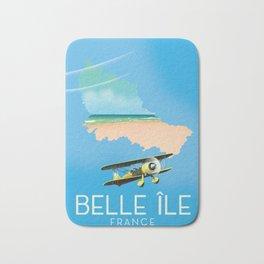 Belle Île island France Map. Bath Mat