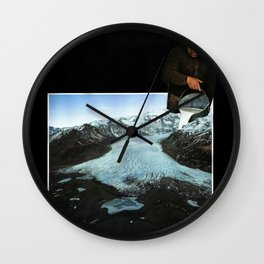 Is not ice, is milk. Wall Clock