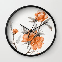 flowers / 65 Wall Clock