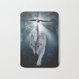 The Gathering - Wolf and Eagle Bath Mat