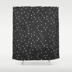DOWN UP / cool grey / white / black Shower Curtain