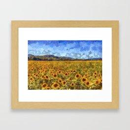 Vincent Van Gogh Sunflowers Framed Art Print