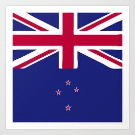 New Zealand flag emblem Art Print
