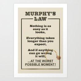 MURPHY's LAW ... in Action Art Print