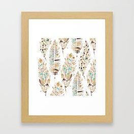 Boho Festival Feather Framed Art Print