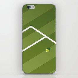 TENNIS COURT: WIMBLEDON iPhone Skin