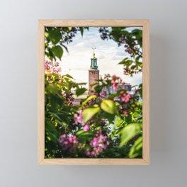 Stockholm City Hall in Summer Greens Framed Mini Art Print