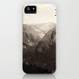 Vintage Yosemite Valley, California, ca. 1865 iPhone Case