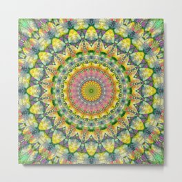 Mandala Patchwork 3 Metal Print