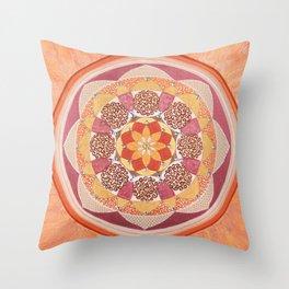Sacral Fire Chakra Mandala Throw Pillow