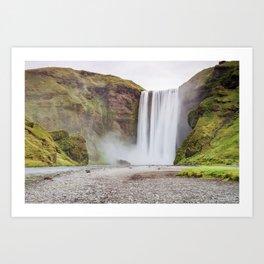 Skogafoss waterfall Art Print