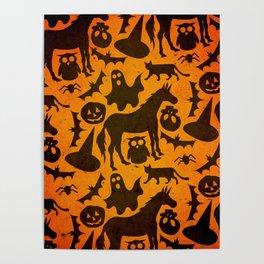 Halloween Spook Unicorn Poster