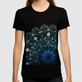 Mandala in Sea Green and Blue T-shirt