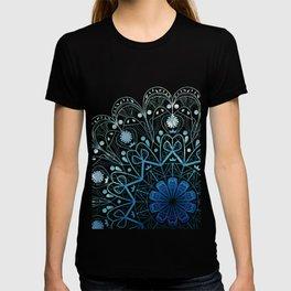 Mandala in Sea Green and Blue T-shirt