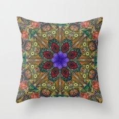 Hallucination Mandala 1 Throw Pillow