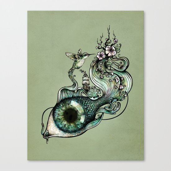 Flowing Creativity Canvas Print