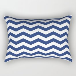 Navy Chevron Pattern Rectangular Pillow