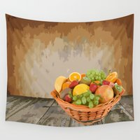 fruit Wall Tapestries featuring fruit by Shea33