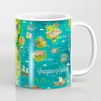 narnia Mugs featuring Imagine Nation by Kitkat Pecson