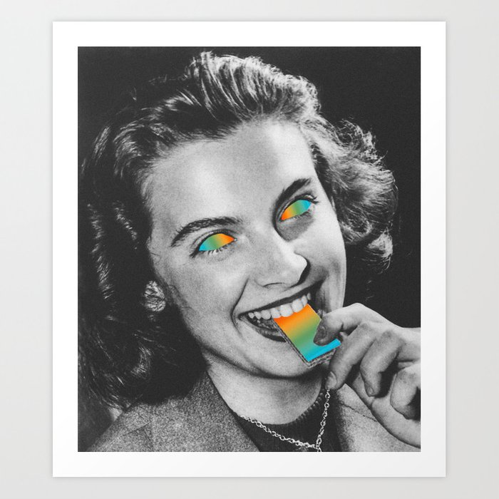 Acid wafer Art Print