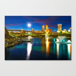 Downtown Tulsa Oklahoma Skyline at Dusk Canvas Print