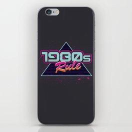 1980s Rule iPhone Skin