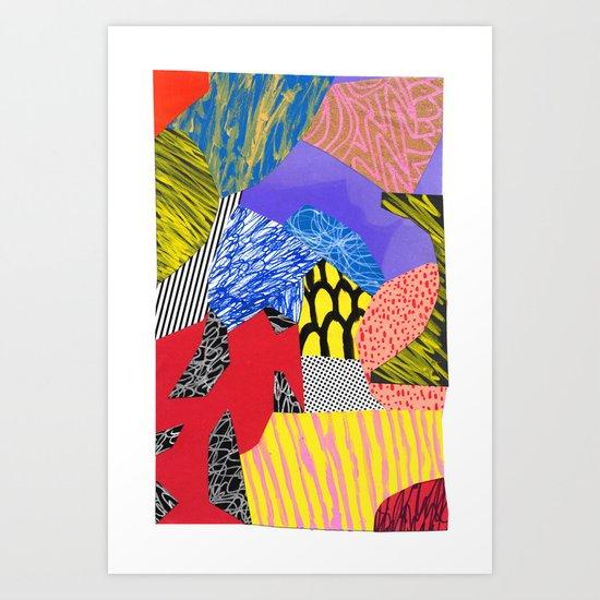 Colors & Shapes Art Print