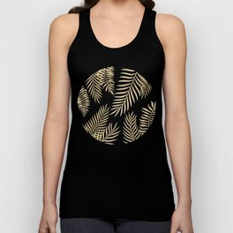 Gold palm leaves Unisex Tank Top