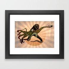 Octoclipse v3 Framed Art Print