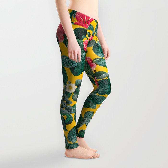 Summer Botanical Pattern Leggings