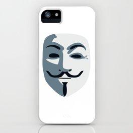 Anonymous Mask #society6 #decor #buyart #artprint iPhone Case