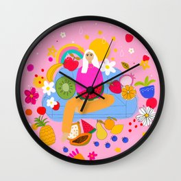 FRUITS AND SPRING Wall Clock