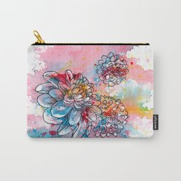 Colorful abstract flowers 1 Carry-All Pouch