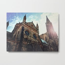 Roman Catholic Cathedral Notre Dame of Strasbourg Metal Print
