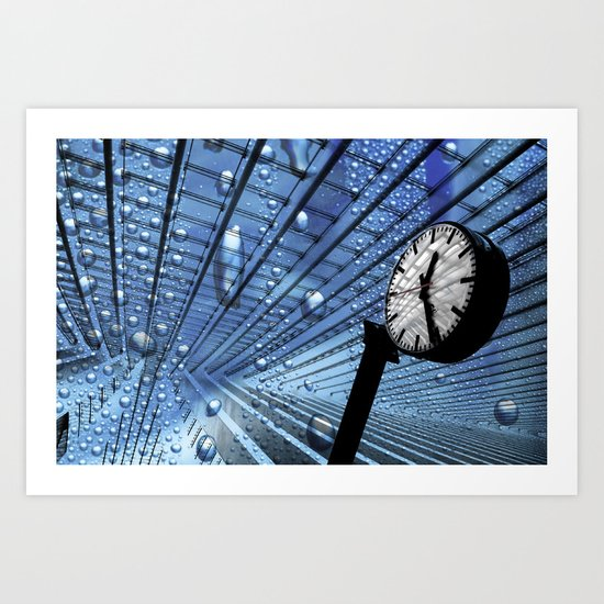 Bubble Clock  Art Print